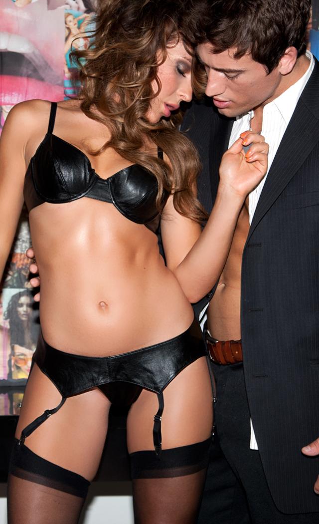 Women's Sexy Leather Bra - 1X SL-11075