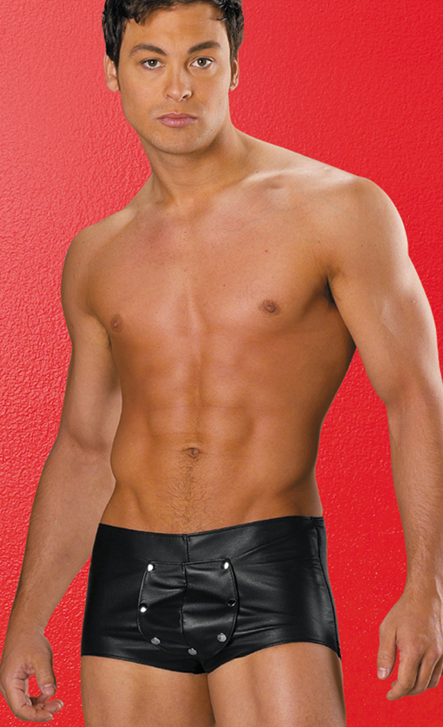Men's Leather and Lycra Shorts - L SL-11460