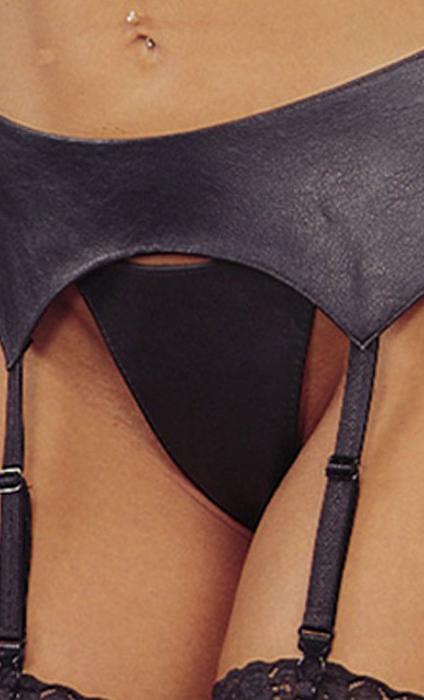 Buy online Women Leather Lace Up Garterbelt-One Size