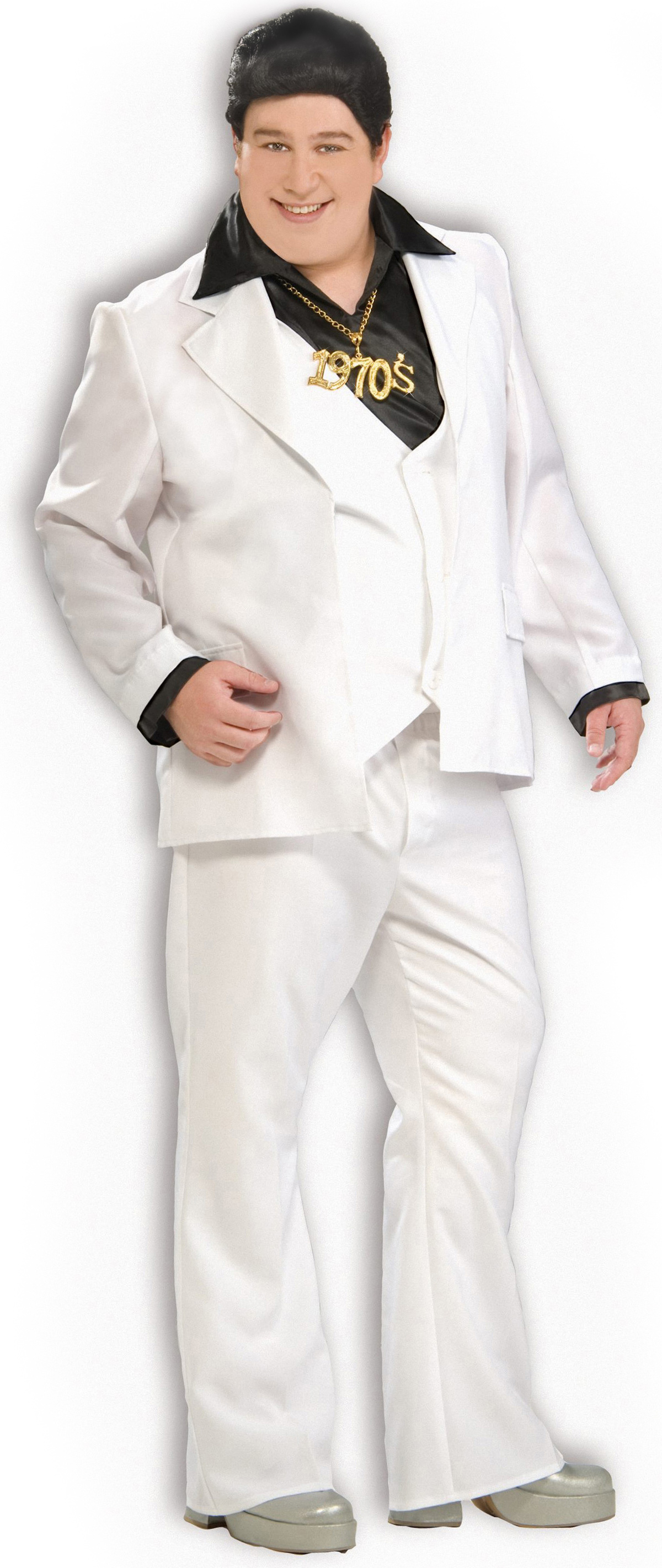 Men's Disco Man Adult Plus Costume - White - Plus (44-48) BS-152362
