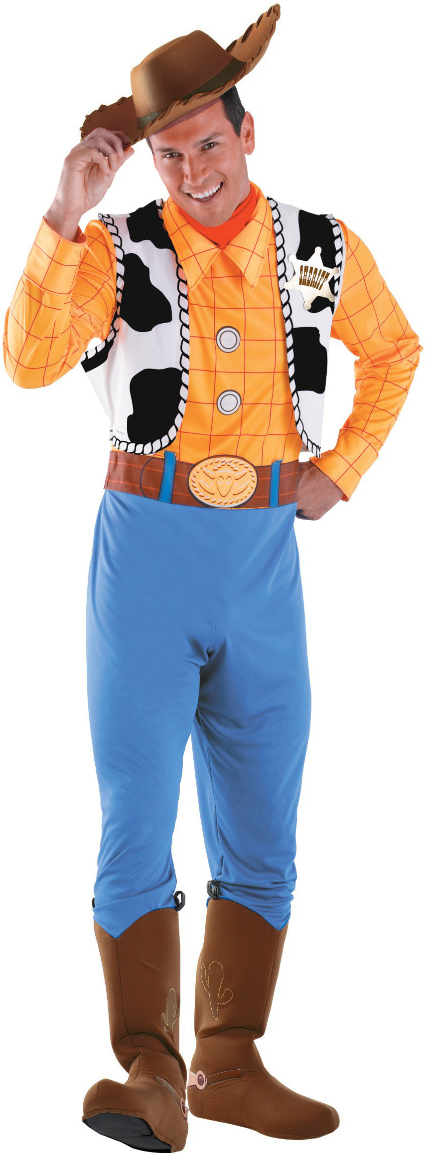 Men's Disney Toy Story - Woody Deluxe Adult Costume - Yellow - XX-Large (50-52) BS-179070