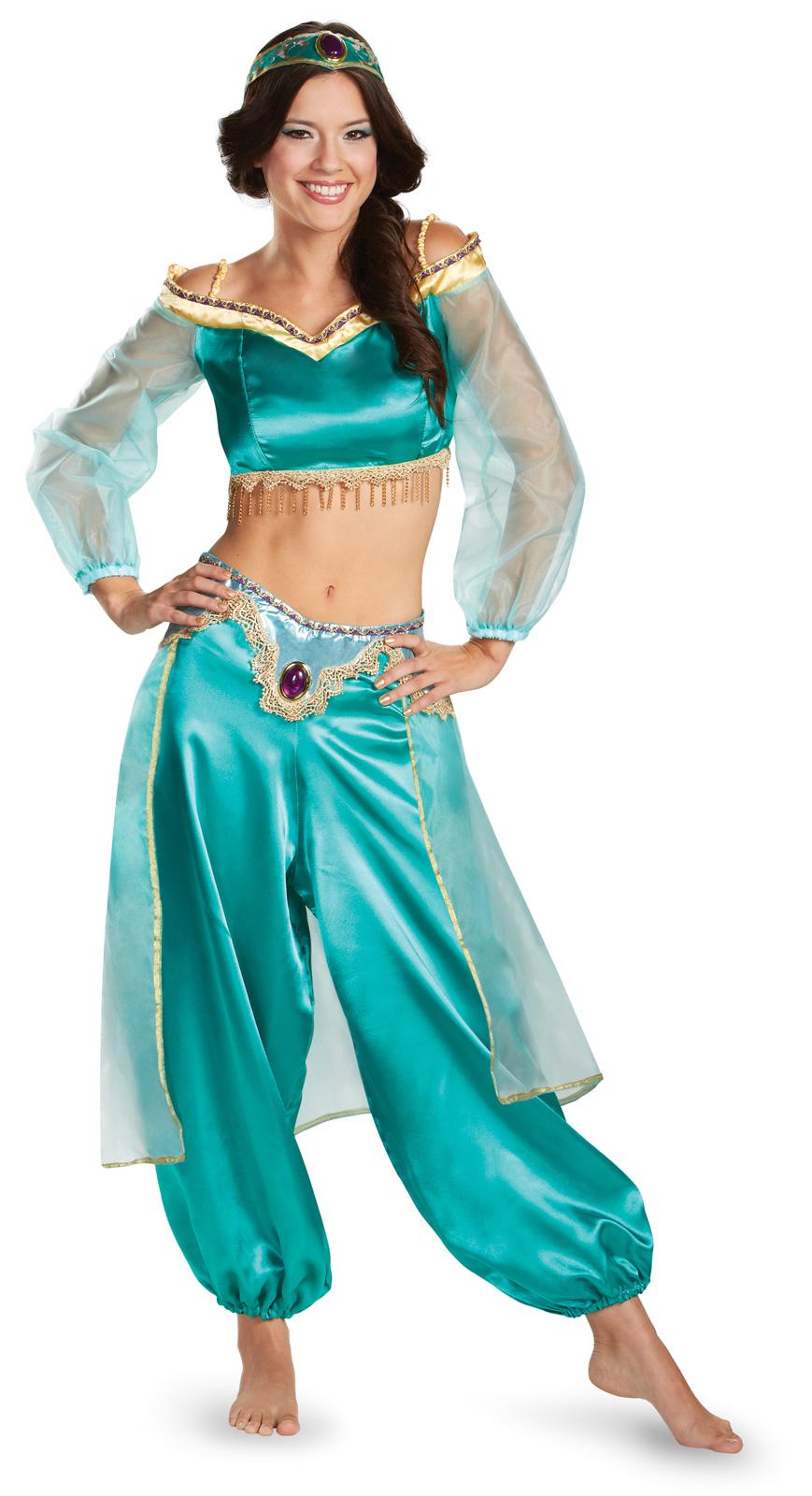 Women's Disney Princess Jasmine Fab Prestige Adult Costume - Purple - Large (12-14) BS-243631