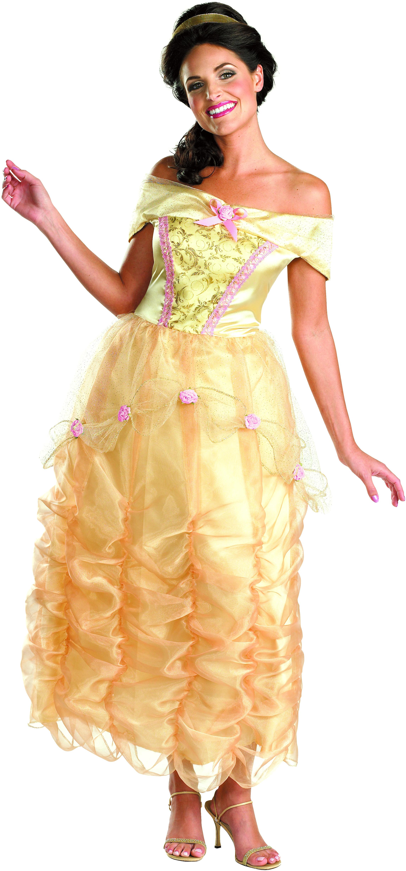 Women's Disney Princess Belle Deluxe Adult Costume - Yellow - Large (12-14) BS-179140