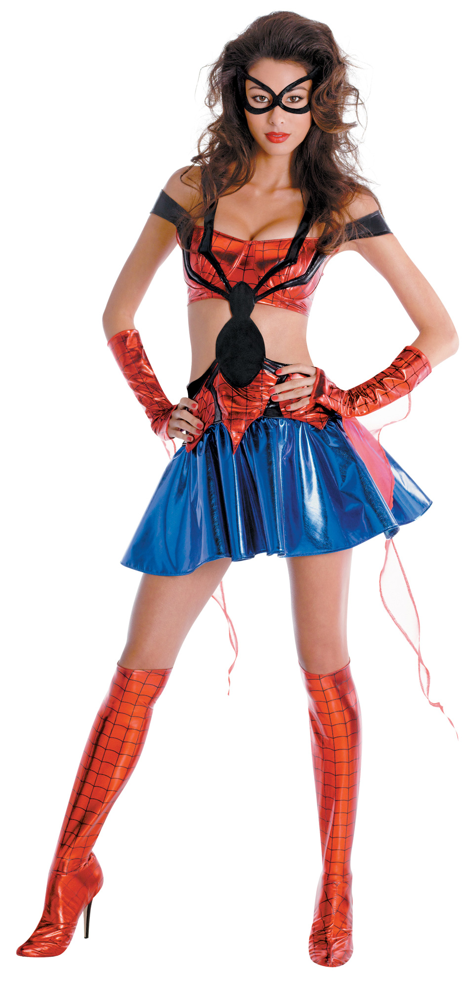 Women's Spider-Girl Sassy Prestige Adult Costume - Red - Medium (8-10) BS-179217