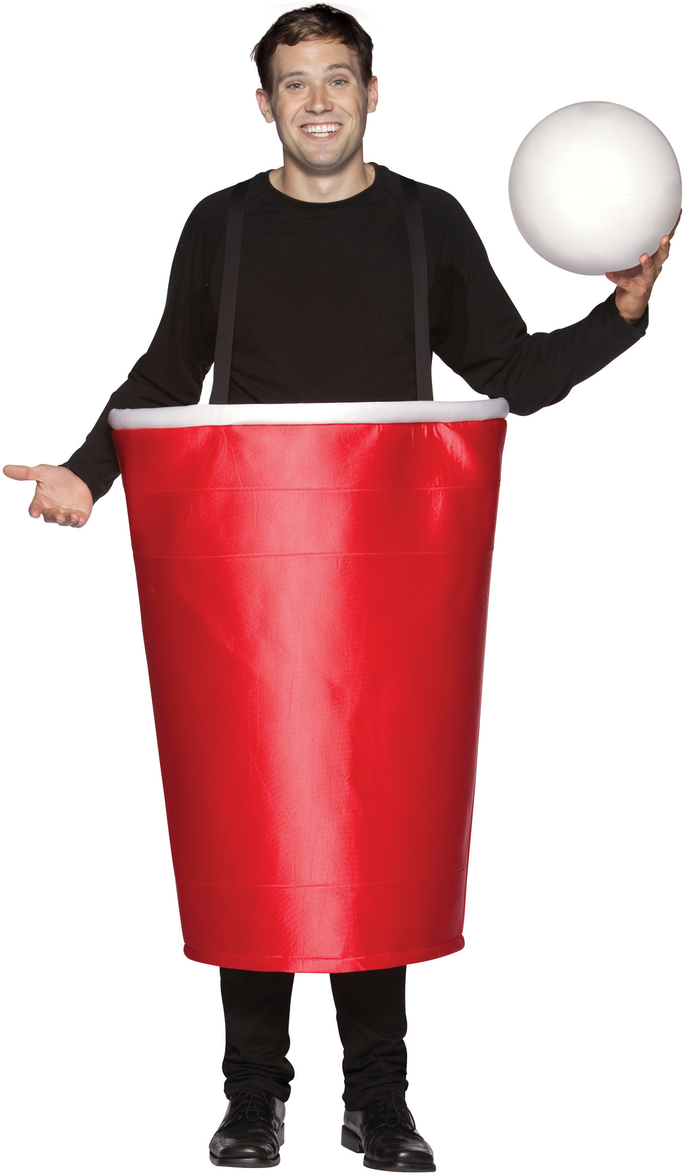 Men's Beer Pong Cup Adult Costume - Red - One Size Fits Most Adults BS-188581
