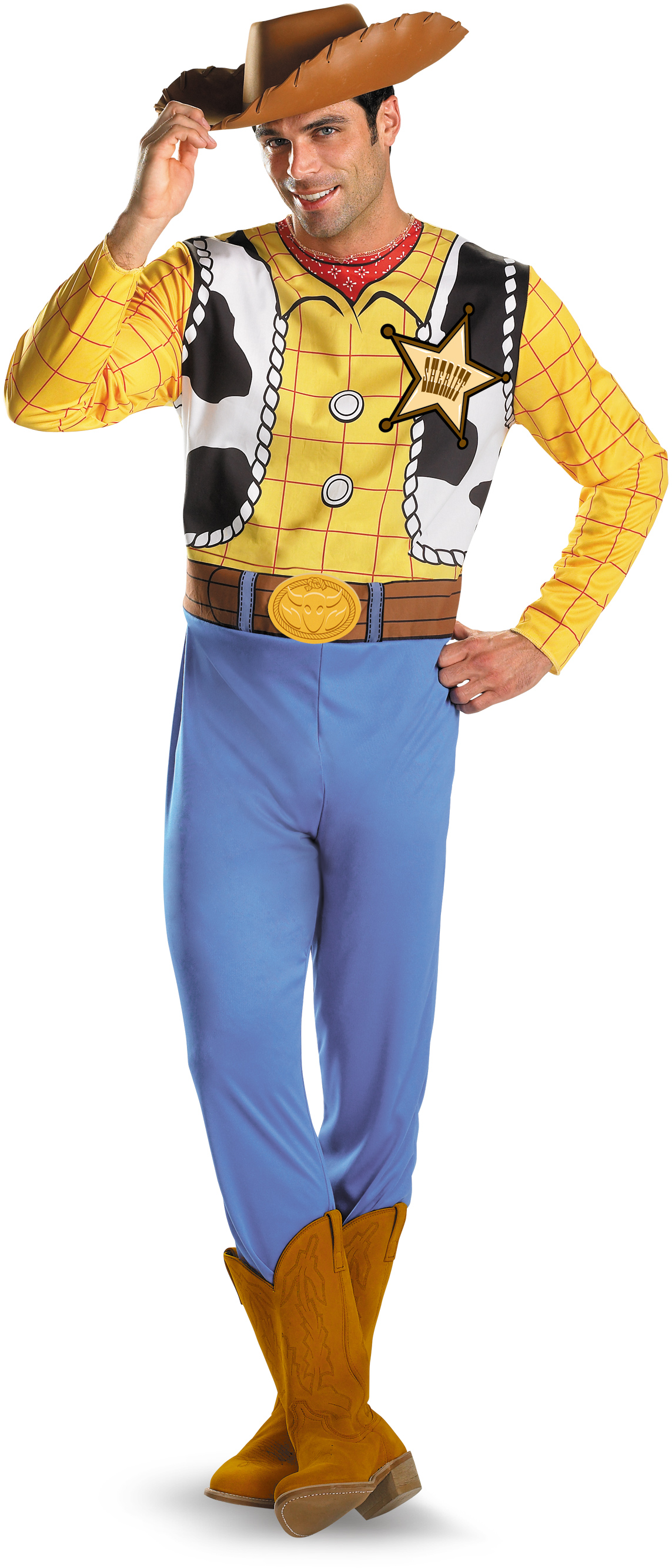 Men's Disney Toy Story - Woody Classic Adult Plus Costume - Yellow - XX-Large (50-52) BS-188024