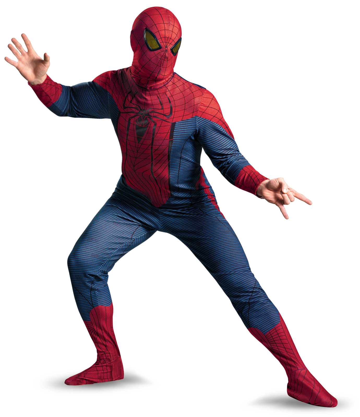 Men's The Amazing Spider-Man Movie Deluxe Plus Adult Costume - Red/Blue - XX-Large (50-52) BS-212407