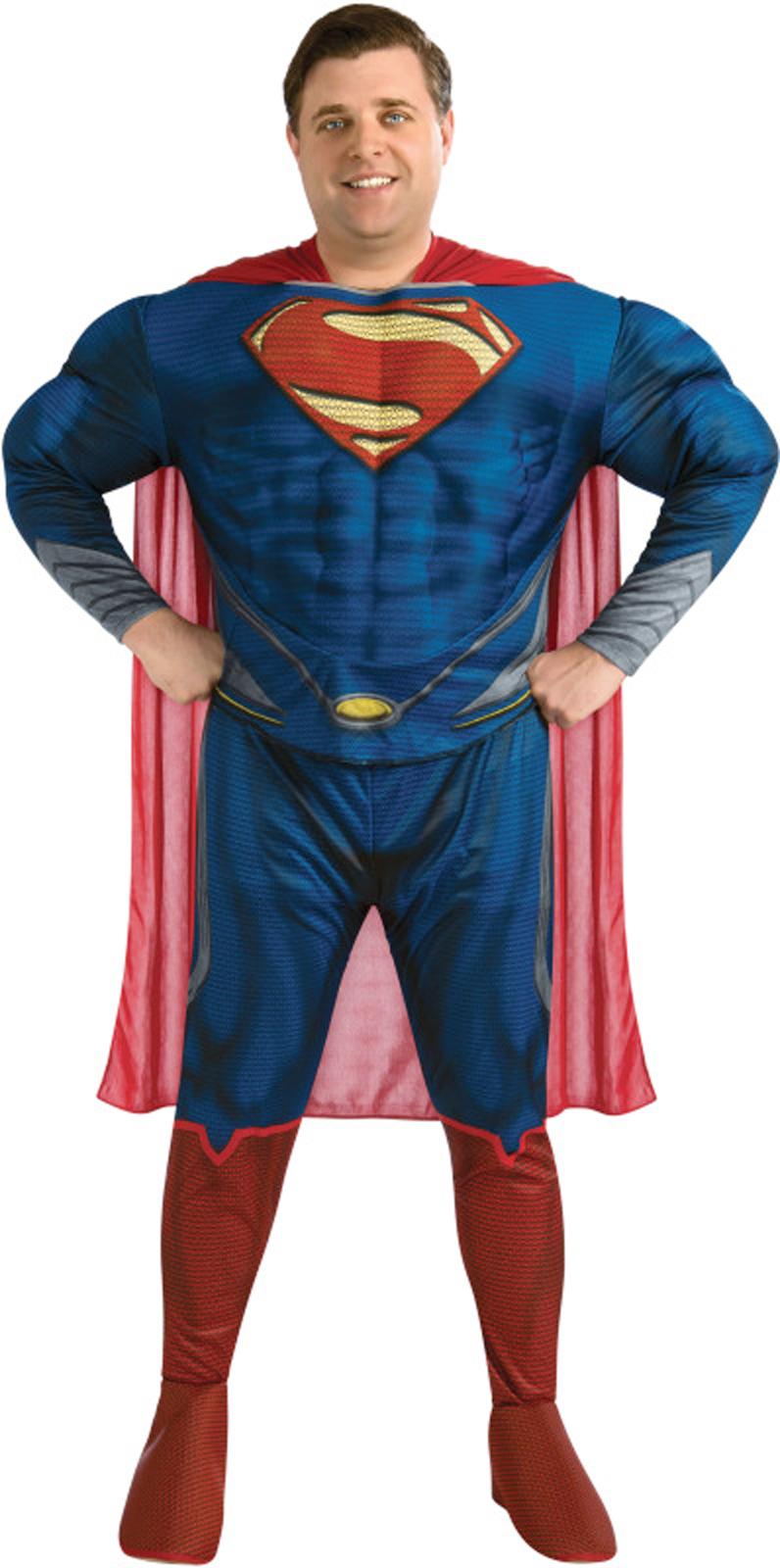 Men's Man of Steel Superman Deluxe Adult Plus Costume - Plus BS-217470