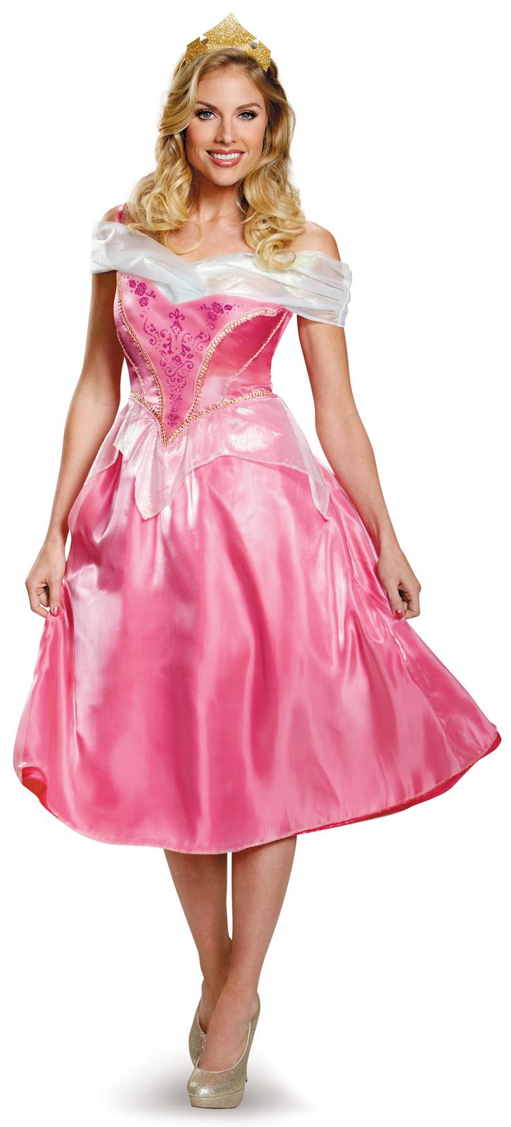 Women's Disney Princess Aurora Deluxe Adult Costume - Pink - Large (12-14) BS-243664