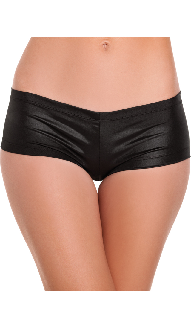 Women's Cotton Lycra Booty Shorts - Black - L BW-BW1018BK L