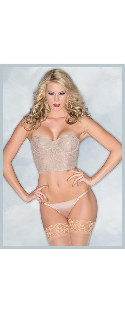 Women's 2 Piece Bustier Nude - NUDE - L BW-BW1510N M