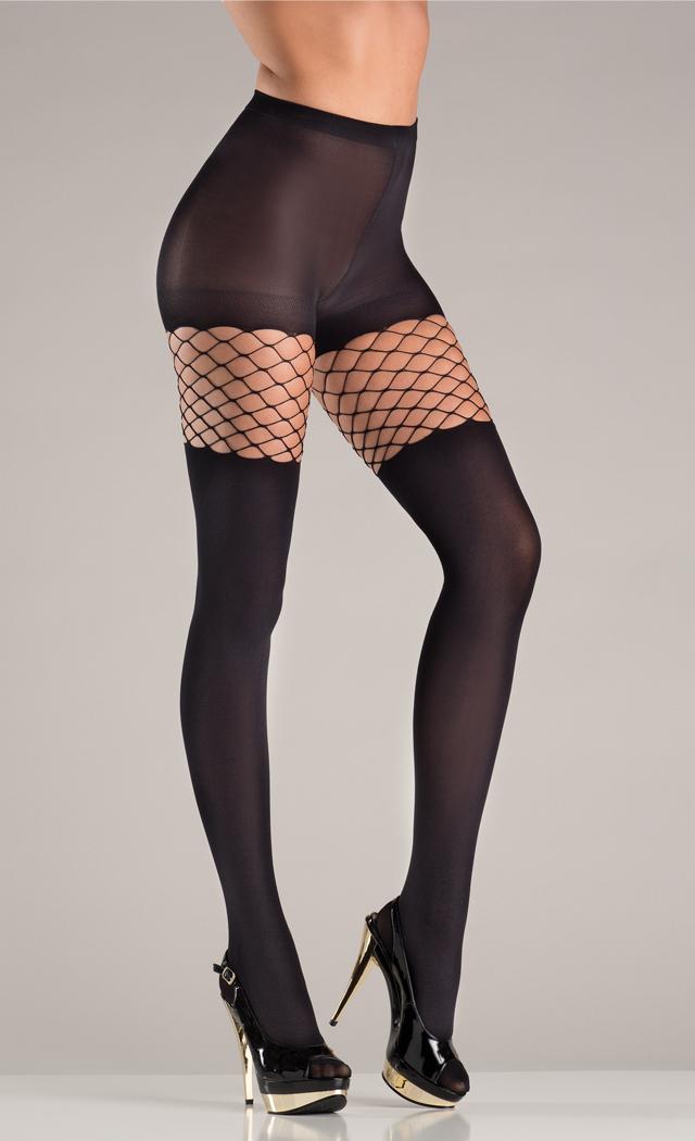 Diamond net pantyhose with