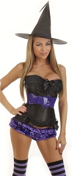 Women's 5 PC Sexy Witch Costume - 2X SL-58616