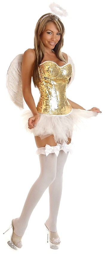 Women's 4 PC Glitter Angel Costume - 2X SL-78354