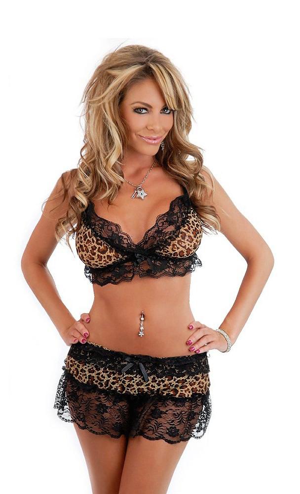 Women's 3 PC Leopard Skirt Set - One Size SL-33335