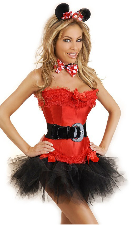 Women's 5 PC Miss Mouse Costume - Red - 2X SL-54050