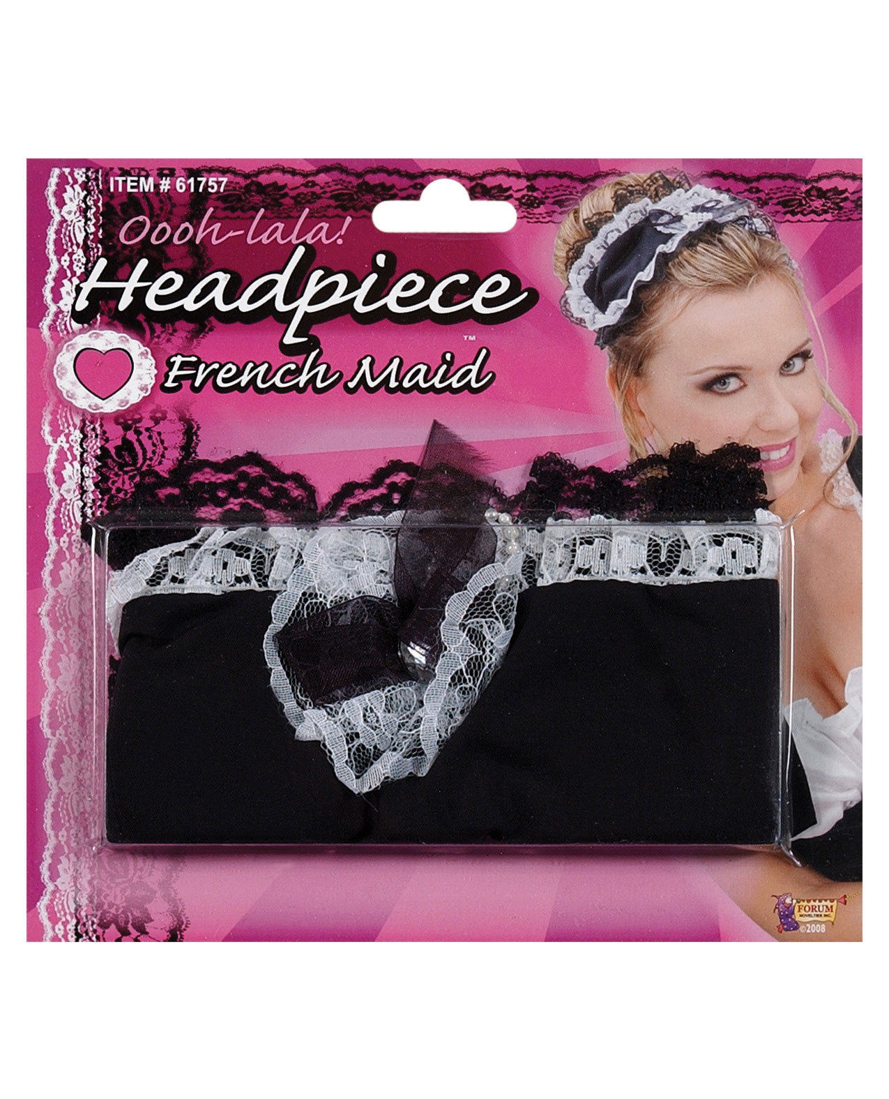 Women's French maid headpiece - One Size ED-1705-01