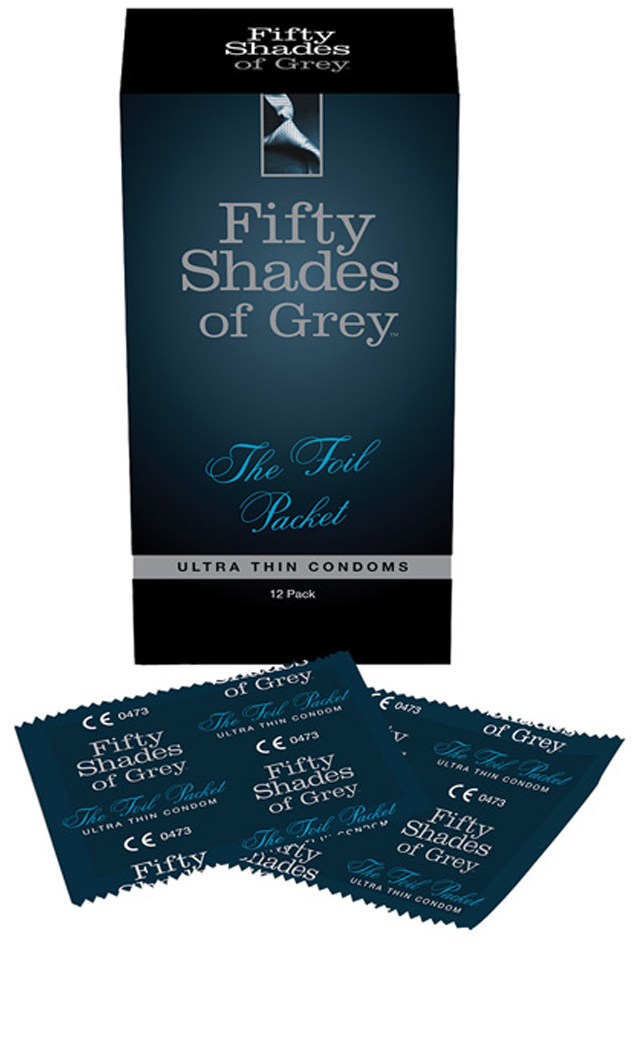 Men's Fifty Shades of Grey The Foil Packet Condoms - Pack of 12 - Standard ED-FSG48830