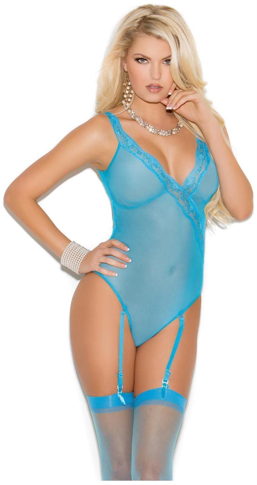Women's Mesh teddiette - Crystal Blue - L SL-113426