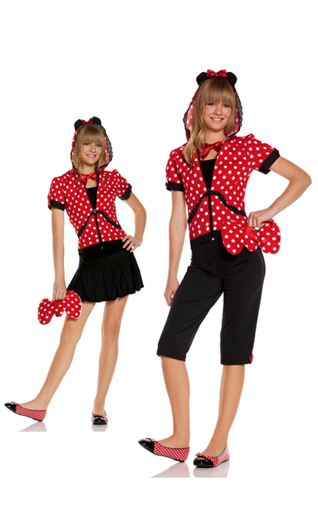 Women's 5 pc Miss Mouse Costume - BLACK - L SL-46276