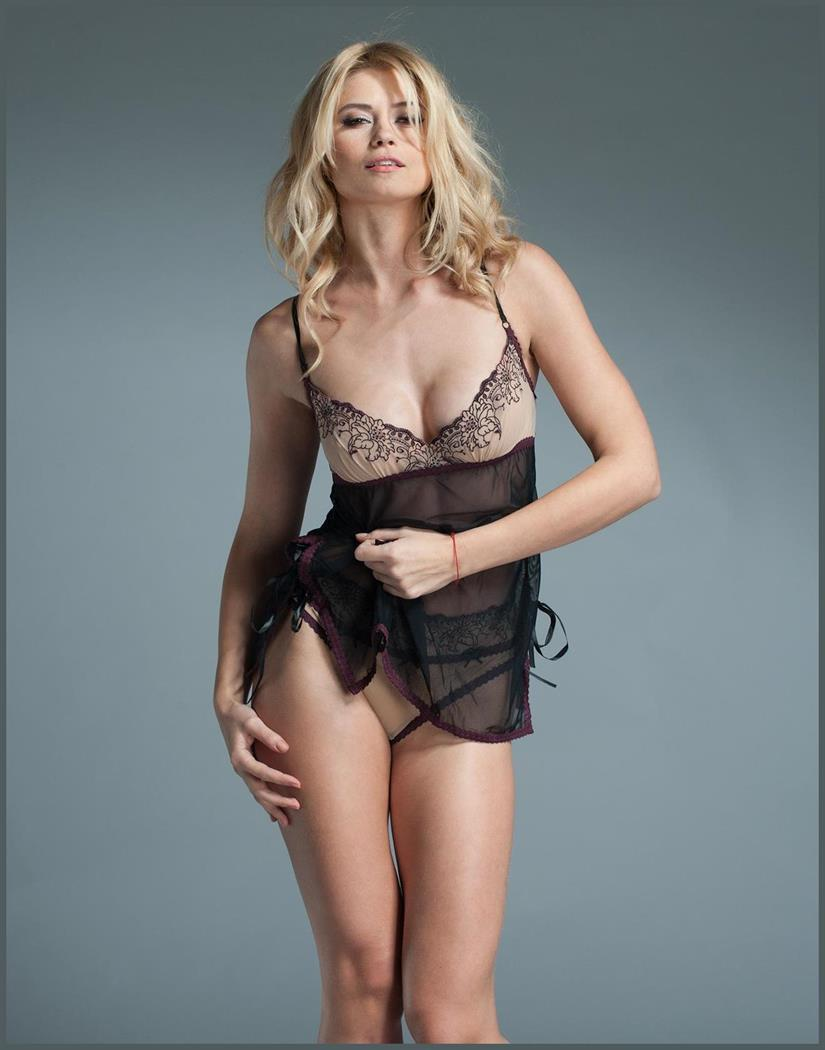 Women's Chemise with Embroidered Cups - AS SHOWN - One size SL-127781