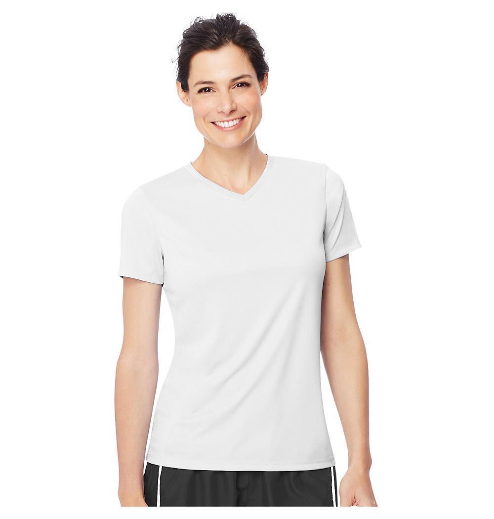Hanes Women 39 S Cool Dri V Neck T Shirt