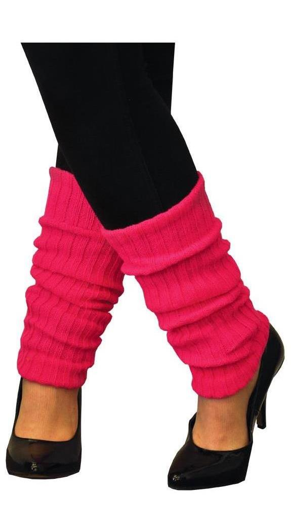 Women's Adult Neon Pink Leg Warmers - Standard MC-AA104