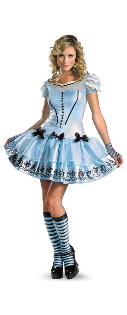 Women's Alice In Wonderland- Sassy Alice Costume - 12-14 MC-DG25653N