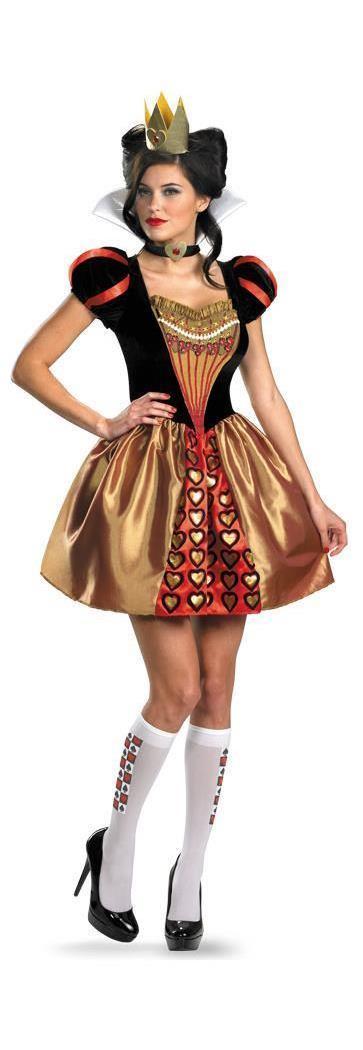 Women's Alice In Wonderland- Sassy Red Queen Costume - 12-14 MC-DG25656N