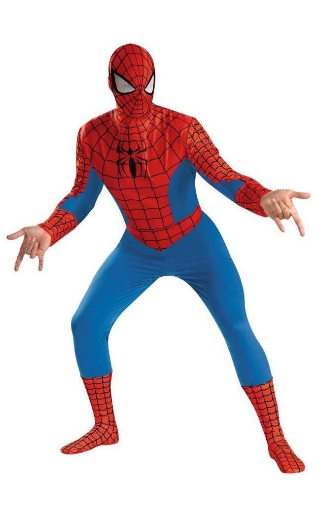 Men's Spider-Man Adult Red Costume - Blue, Black, Red - 42-46 MC-DG50185D
