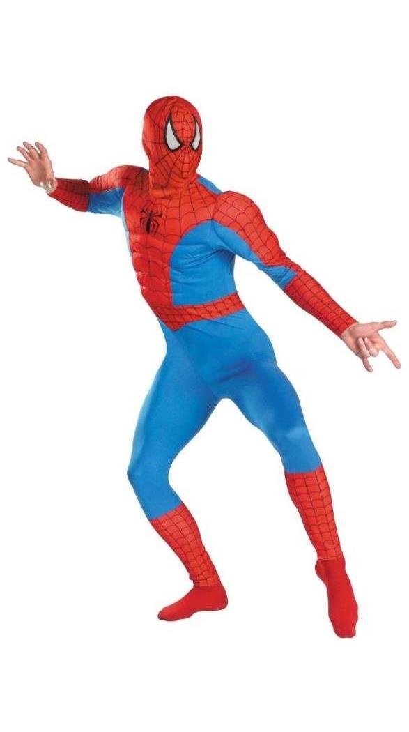 Men's Adult Muscle Chest Spiderman Costume - Standard MC-DG7424