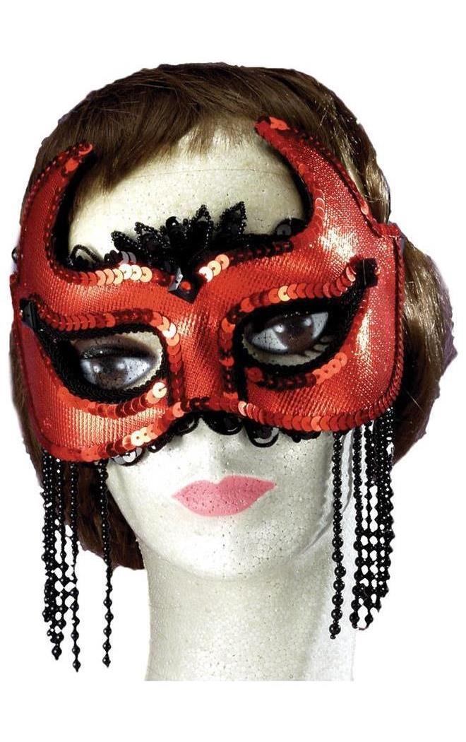 Women's She Devil Half Mask - Standard MC-FM57994