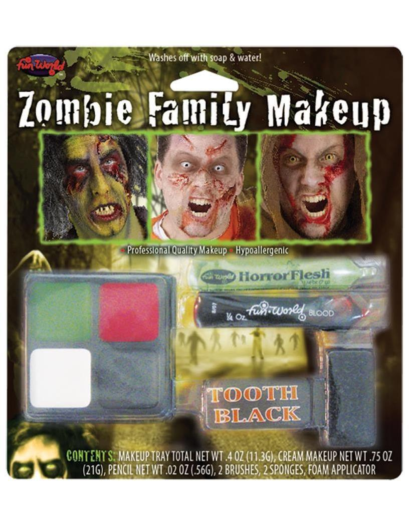 Zombie Family Makeup Accessory Kit - Standard MC-FW9475Z