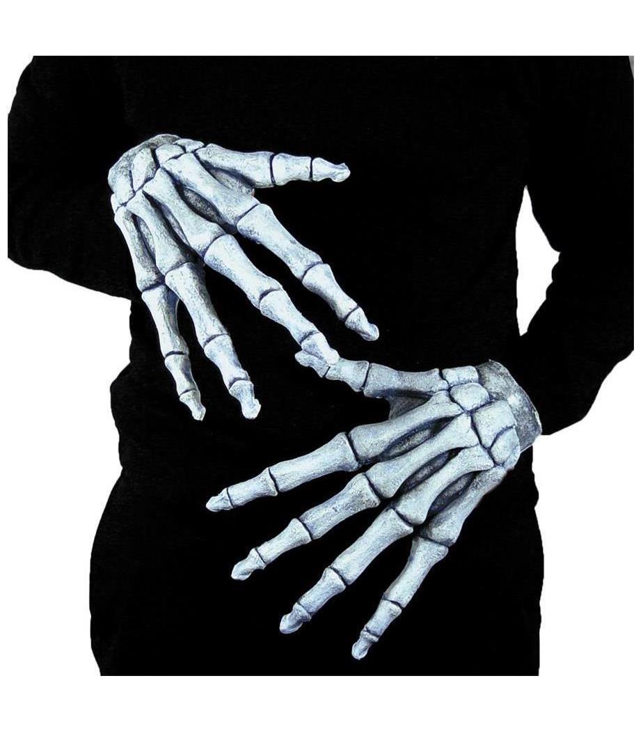 Men's Hands Ghostly Bones Gloves - Standard MC-MR156000