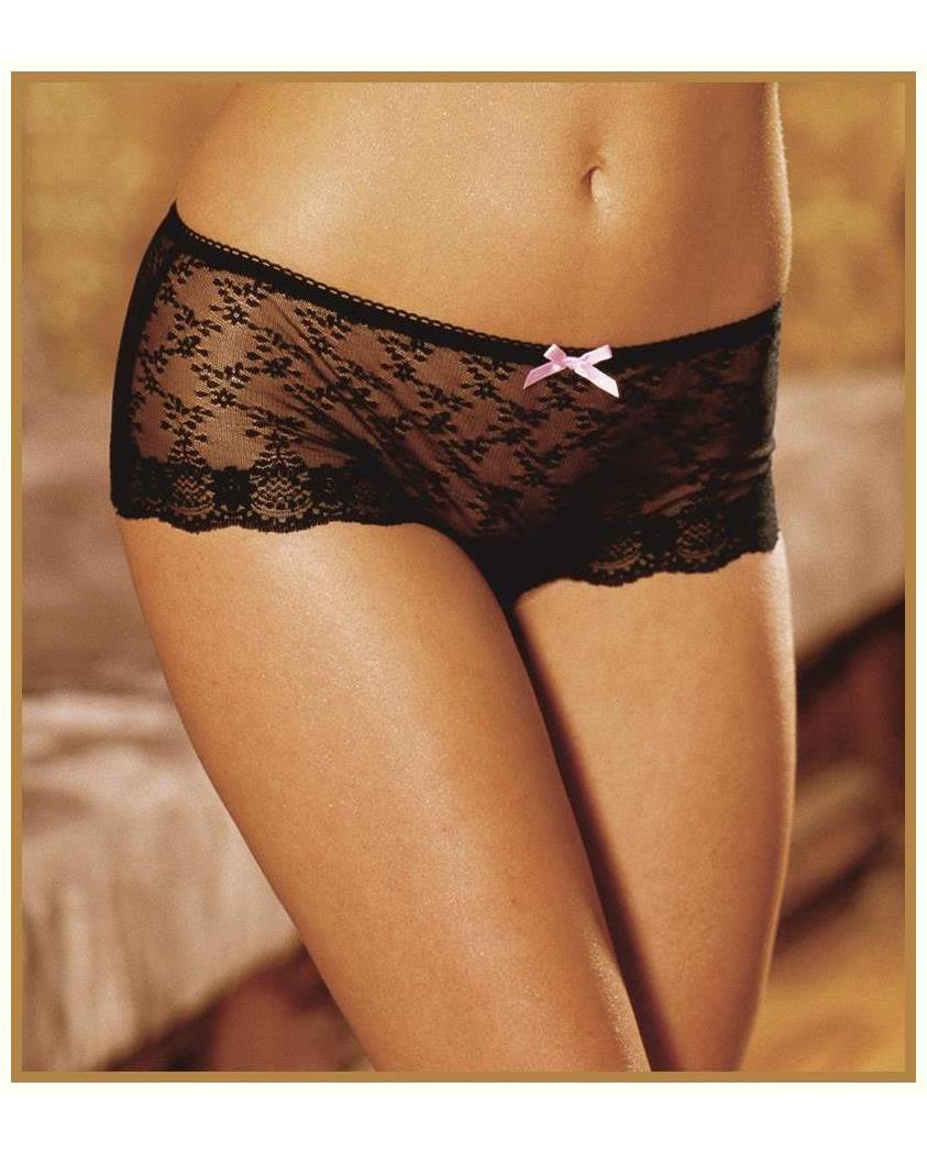 Women's Panties With Lace Up Black Pink - 18-20 MC-RL1214BPLG