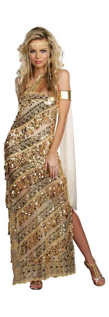 Women's Golden Goddess Large Costume - 14-16 MC-RL8208LG