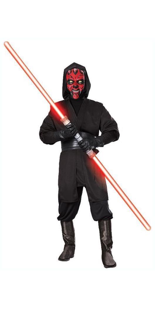 Men's Darth Maul Deluxe Costume - Black, Red - 42-44 MC-RU15667