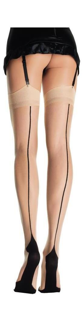 Women's Cuban Foot Nude Black Stocking - Standard MC-UA9213NB