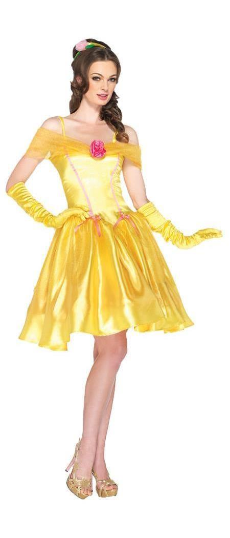 Women's Disney Princess Belle Adult Yellow Costume - 12-14 MC-UADP85176SM