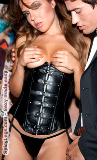 Women's Leather Cupless Corset