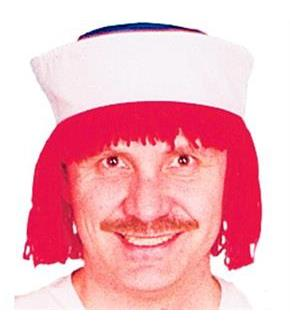 Women's Raggedy Andy Wig w/Hat - Red - One Size
