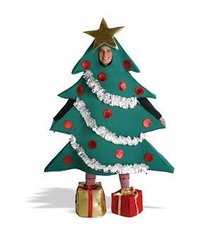Men's Christmas Tree with Shoe Boxes Adult Costume - Green - L/XL