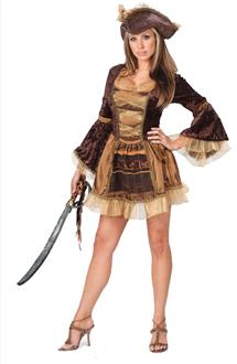 Women's Sassy Victorian Pirate Adult Costume