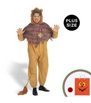 Men's The Wizard of Oz - Cowardly Lion Adult Plus Costume - Yellow