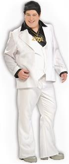 Men's Disco Man Adult Plus Costume - White - Plus (44-48)