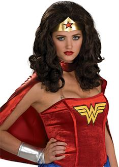 Women's Wonder Woman Adult Wig - Black - One-Size