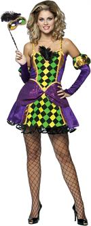 Women's Mardi Gras Queen Adult Costume