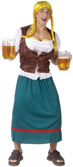 Men's Miss German-breast Adult Costume - Brown