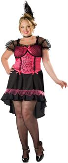 Women's Saloon Gal Adult Plus Costume