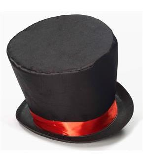 Women's Mad Hatter Adult Top Hat - Black - One Size Fits Most Adults